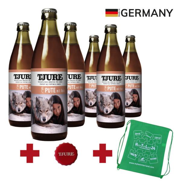 "TJURE Hund ""Pute & Reis"" Six Pack 6 x 320 ml"