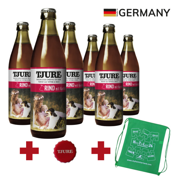 """TJURE Hund """"Rind"""" Six Pack 6 x 320 ml"""