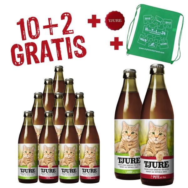 Sparpack KATZE - 6 x Lamm & Reis + 6 x Pute & Reis - 10+2 Gratis - 220 ml
