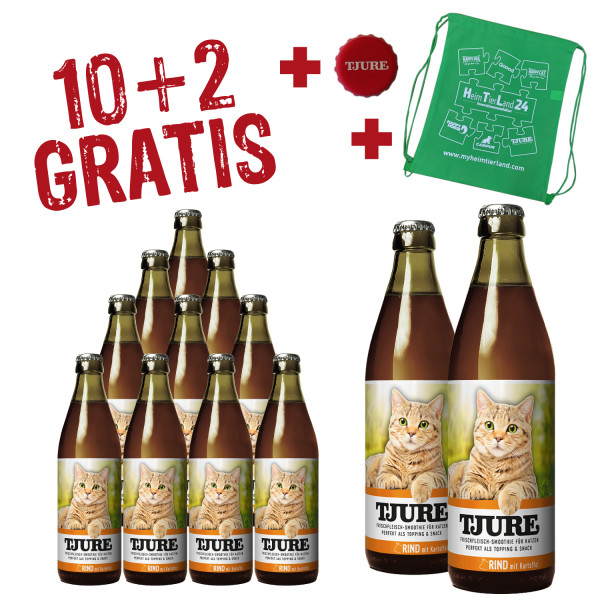 "TJURE Katze ""Rind"" Aktion 10+2 GRATIS"
